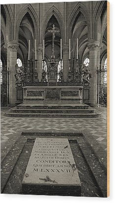Tomb Of William The Conqueror Wood Print by RicardMN Photography
