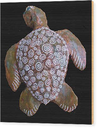 Toni The Turtle Wood Print by Dan Townsend