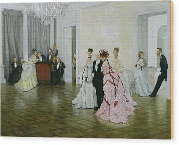 Too Early Wood Print by James Jacques Joseph Tissot