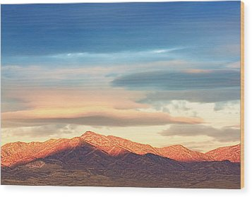 Tooele County Mountains At Sunrise Wood Print