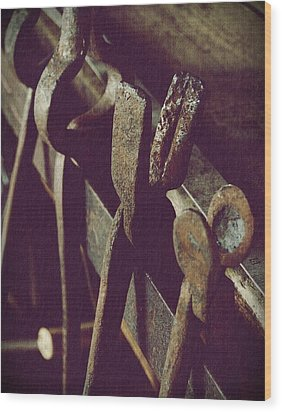Tools Of The Smith Wood Print by Steven Milner