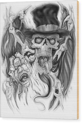 Top Hat Wood Print by Mike Royal