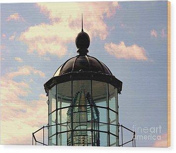 Top Of Bonita Lighthouse Wood Print by Kathleen Struckle