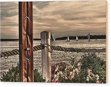 Top Of The Bay Wood Print by Tom Prendergast
