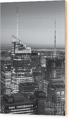 Top Of The Rock Twilight Vii Wood Print by Clarence Holmes