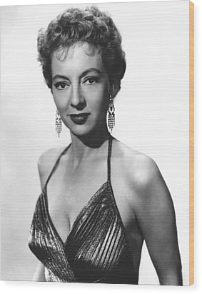 Top Of The World, Evelyn Keyes, 1955 Wood Print by Everett