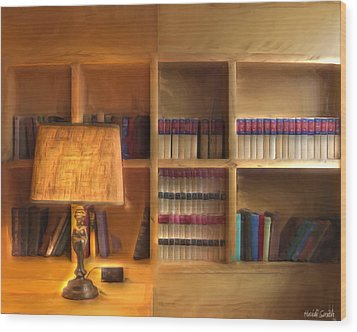 Top Pot's Library Wood Print by Heidi Smith