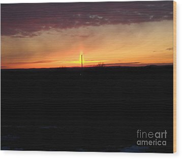 Wood Print featuring the photograph Topeka Sunset by Mark McReynolds