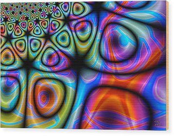Wood Print featuring the digital art Topological Foam Of Quantized Space-time by Manny Lorenzo