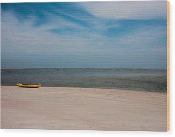 Topsail Kayak Wood Print by Betsy Knapp