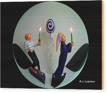 Torch Light Parade Wood Print by Roland LaVallee