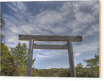 Wood Print featuring the photograph Torii by Tad Kanazaki