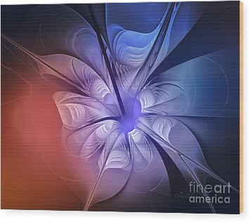 Torn Flower Wood Print by Jutta Maria Pusl