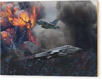 Tornado Gr4 Attack Wood Print by Ken Brannen