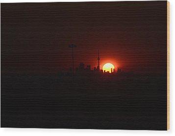 Toronto Sunrise Wood Print