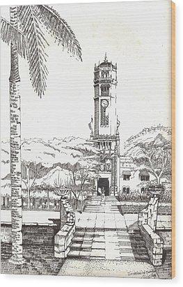 Torre De La Universidad De Puerto Rico Wood Print by Juan  Salazar