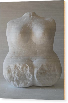 Torso Wood Print by Rosemary Cotnoir