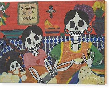 Tortillas Wood Print by Sonia Orban-Price