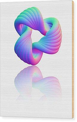 Torus Knot, Computer Artwork Wood Print by Pasieka