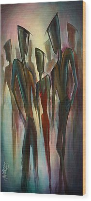 'touch Of Red' Wood Print by Michael Lang