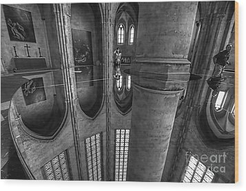 Wood Print featuring the photograph Toulouse Reflections I by Jack Torcello