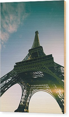 Tour Eiffel Wood Print by Images by Fabio
