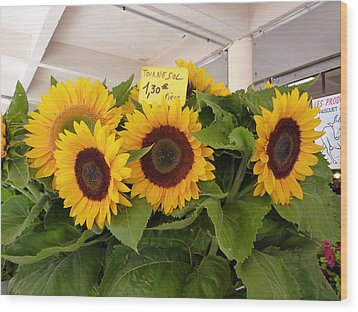 Wood Print featuring the photograph Tournesol by Carla Parris
