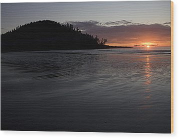 Tow Hill And North Beach At Sunset Wood Print by Taylor S. Kennedy