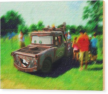 Wood Print featuring the photograph Tow Mater Live by Mario Carini
