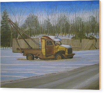 Tow Truck On Burgoyne Ave. Wood Print by Mark Haley