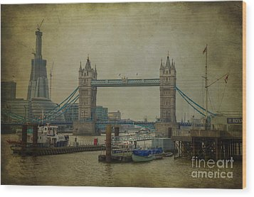 Wood Print featuring the photograph Tower Bridge. by Clare Bambers