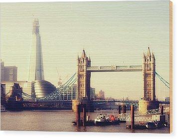 Tower Bridge Wood Print by Eva Millan Photography