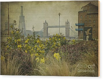 Wood Print featuring the photograph Tower Bridge In Springtime. by Clare Bambers