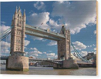 Tower Bridge Wood Print by Paul Biris