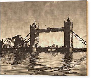 Tower Bridge Wood Print by Sharon Lisa Clarke