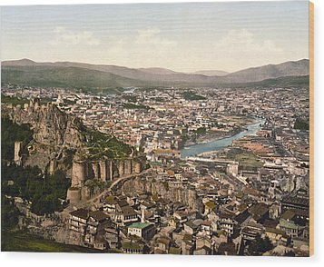 Town Fortress In Tbilisi - Georgia Wood Print by International  Images