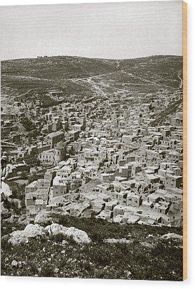 Town Of Es Salt, Ancient Jabesh-gilead Wood Print by Everett