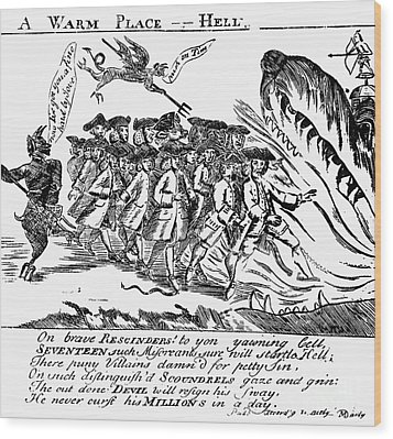 Townsend Act Cartoon, 1768 Wood Print by Granger