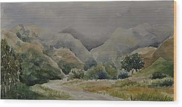 Towsley Canyon Morning Wood Print by Sandy Fisher