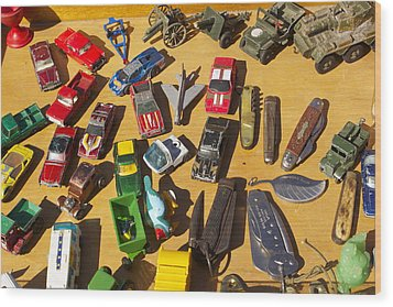 Toy Cars Wood Print by Michael Clarke JP