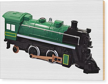 Toy Engine Wood Print by Susan Leggett