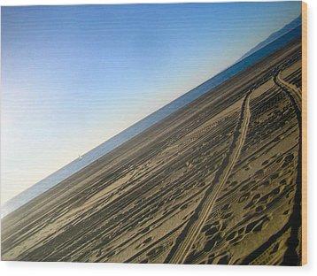 Tracks Wood Print by Jon Berry OsoPorto