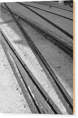 Tracks Wood Print by Roberto Alamino