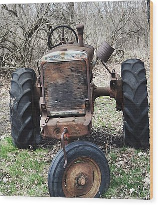 Tractor-1 Wood Print by Todd Sherlock