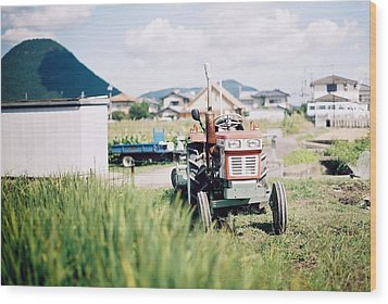 Tractor Wood Print by Dapple Dapple