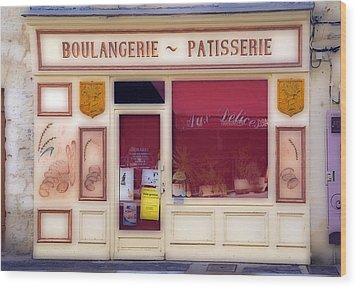 Wood Print featuring the photograph Traditional French Shop by Rod Jones