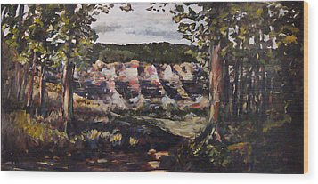 Wood Print featuring the painting Trail Fifteen by George Richardson