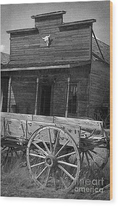 Trail Town In Cody Wyoming Wood Print by Janeen Wassink Searles