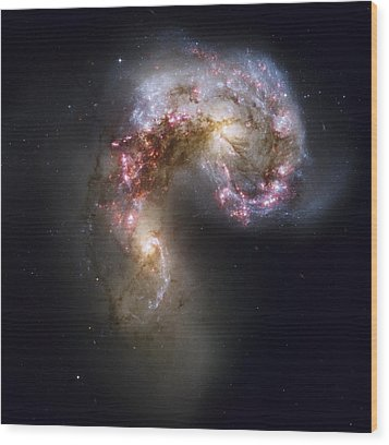Trailing Streamers Of Gas And Stars Wood Print by ESA and nASA
