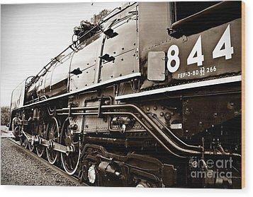 Train 844 Stopped Wood Print by Joseph Porey